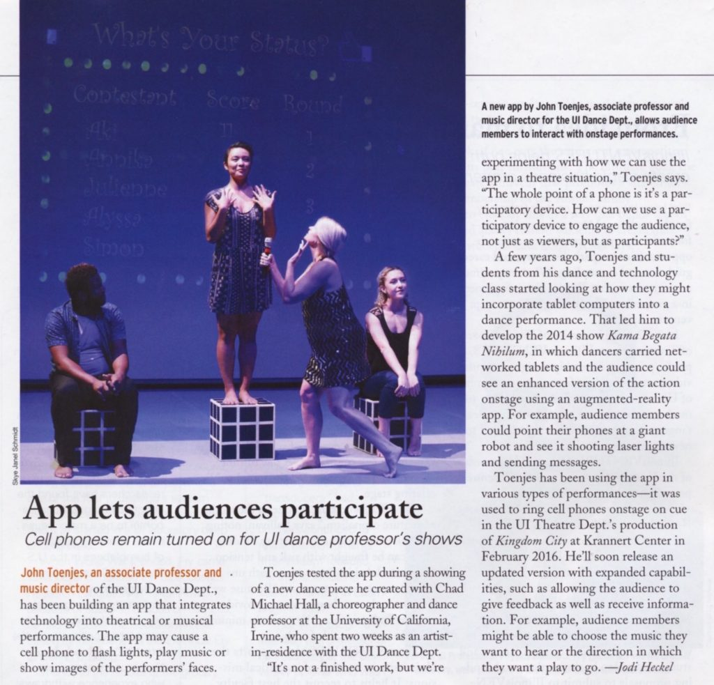 Article by Jodi Heckel in the July edition of Illinois Alumni Magazine
