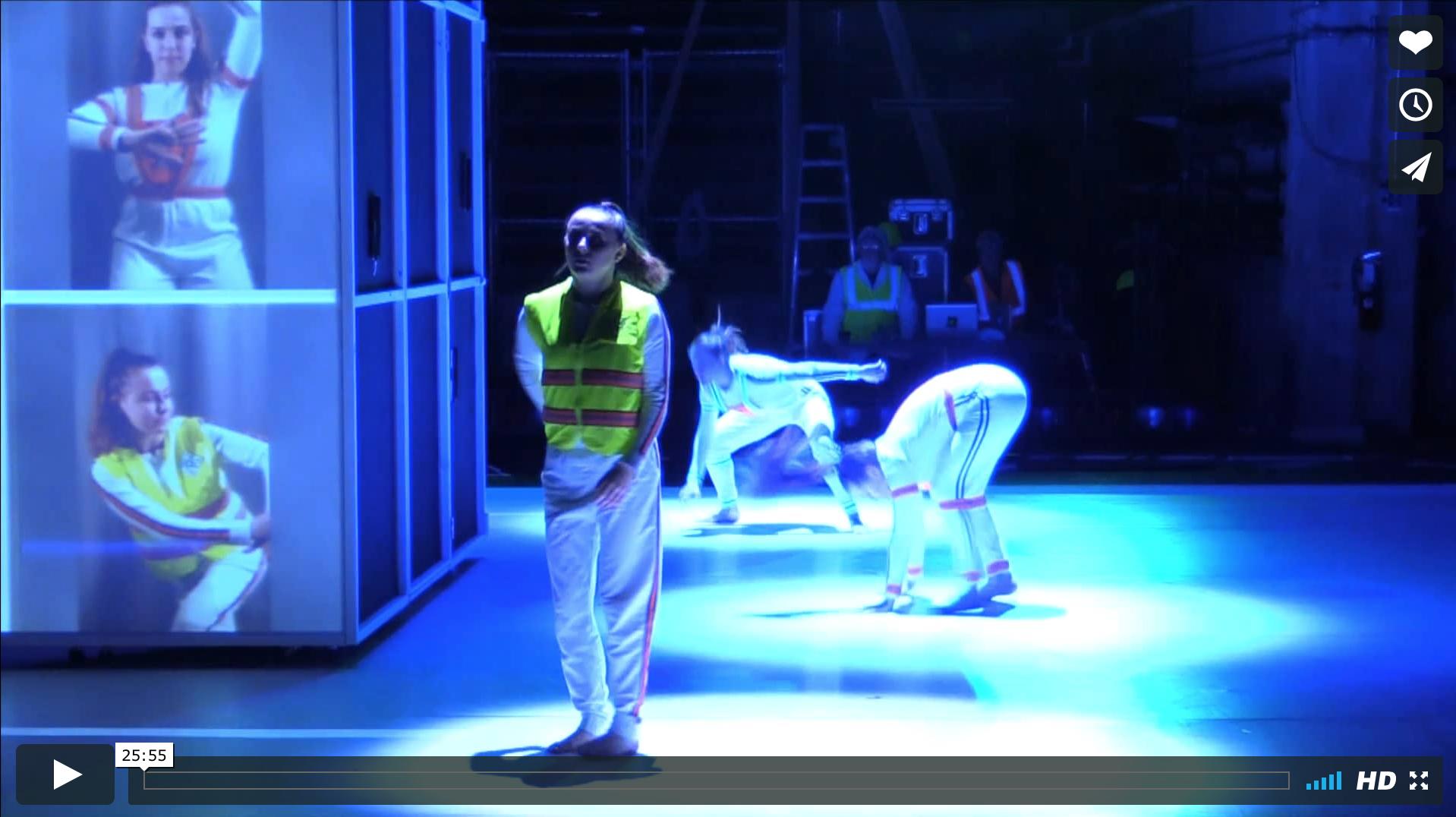 """Dancers in """"Critical Mass"""""""